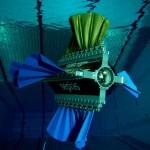 """4つのヒレで水中を泳ぐカメラ付きロボット """"Sepios"""""""