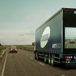 後続車に前方確認モニターを提供するトラック Samsung Safety Truck とテレビ向けOS
